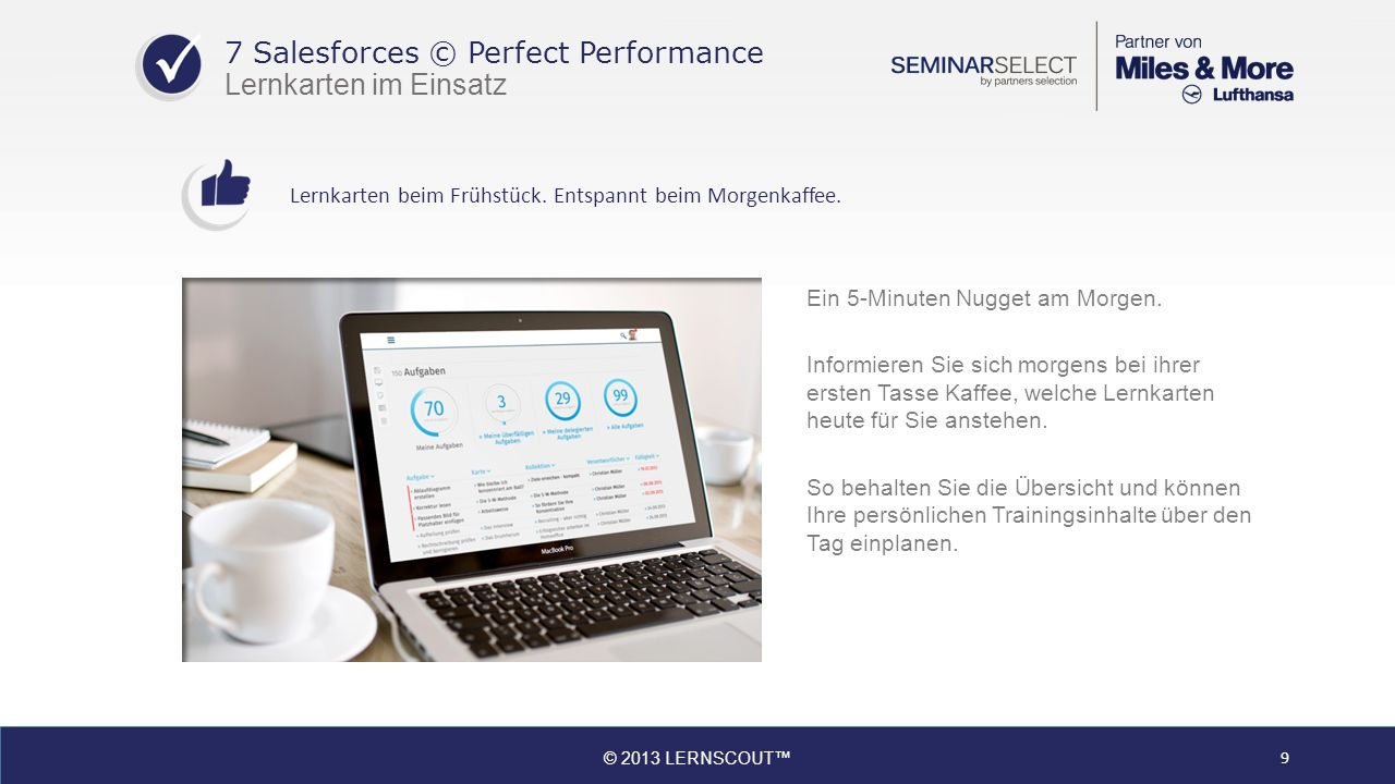 7 Salesforces © Perfect Performance Lernkarten im Einsatz