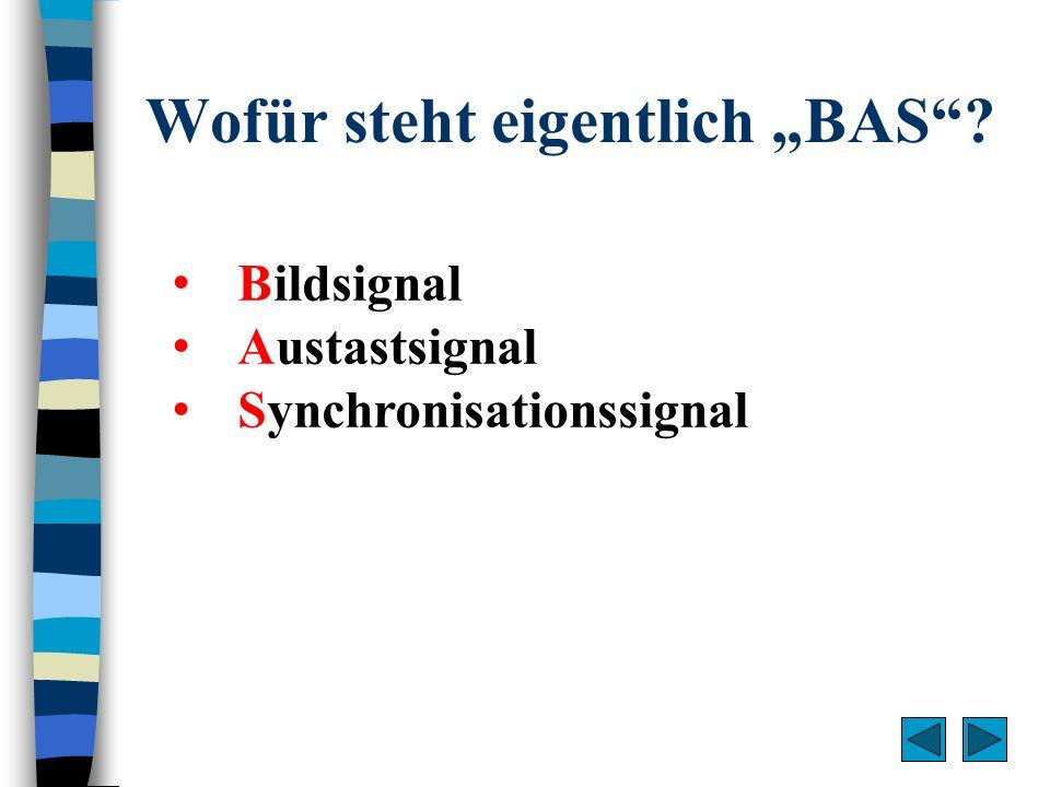 """Wofür steht eigentlich """"BAS"""