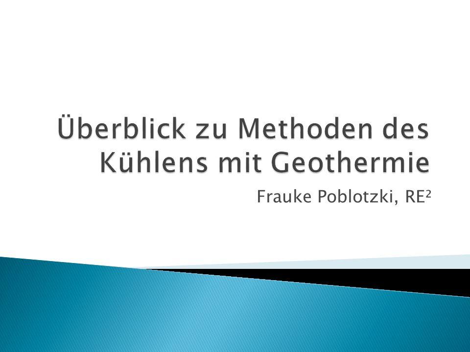 Überblick zu Methoden des Kühlens mit Geothermie