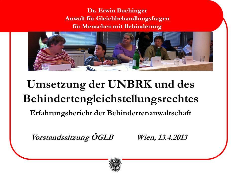 Umsetzung der UNBRK und des Behindertengleichstellungsrechtes