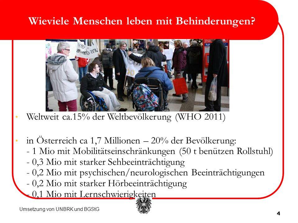 Wieviele Menschen leben mit Behinderungen