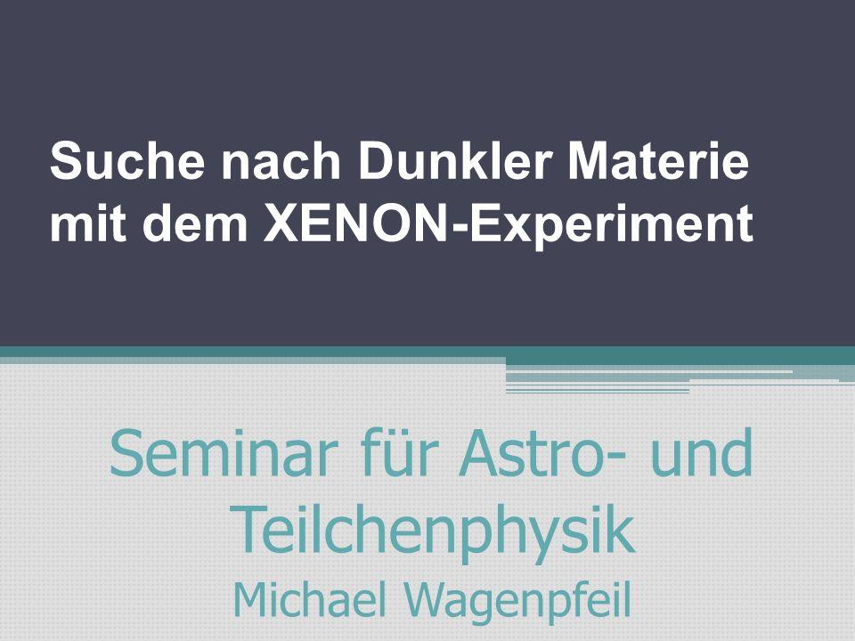 Suche nach Dunkler Materie mit dem XENON-Experiment