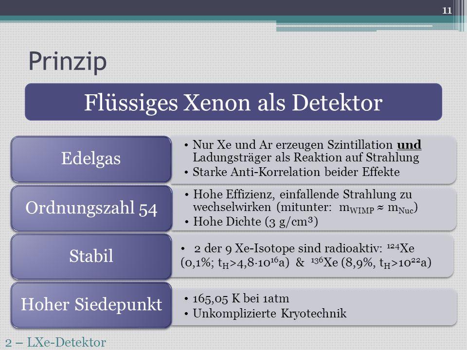 Flüssiges Xenon als Detektor