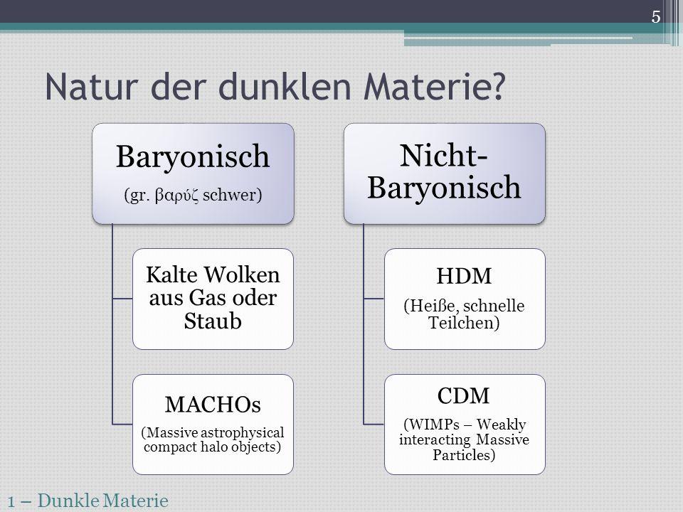 Natur der dunklen Materie