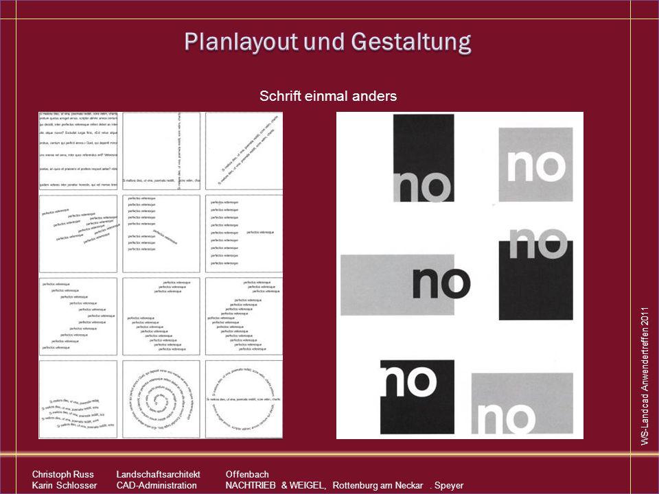 Planlayout und Gestaltung