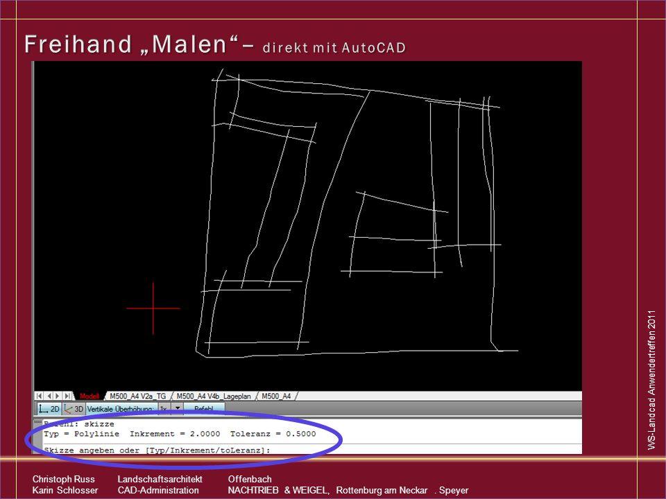 """Freihand """"Malen – direkt mit AutoCAD"""