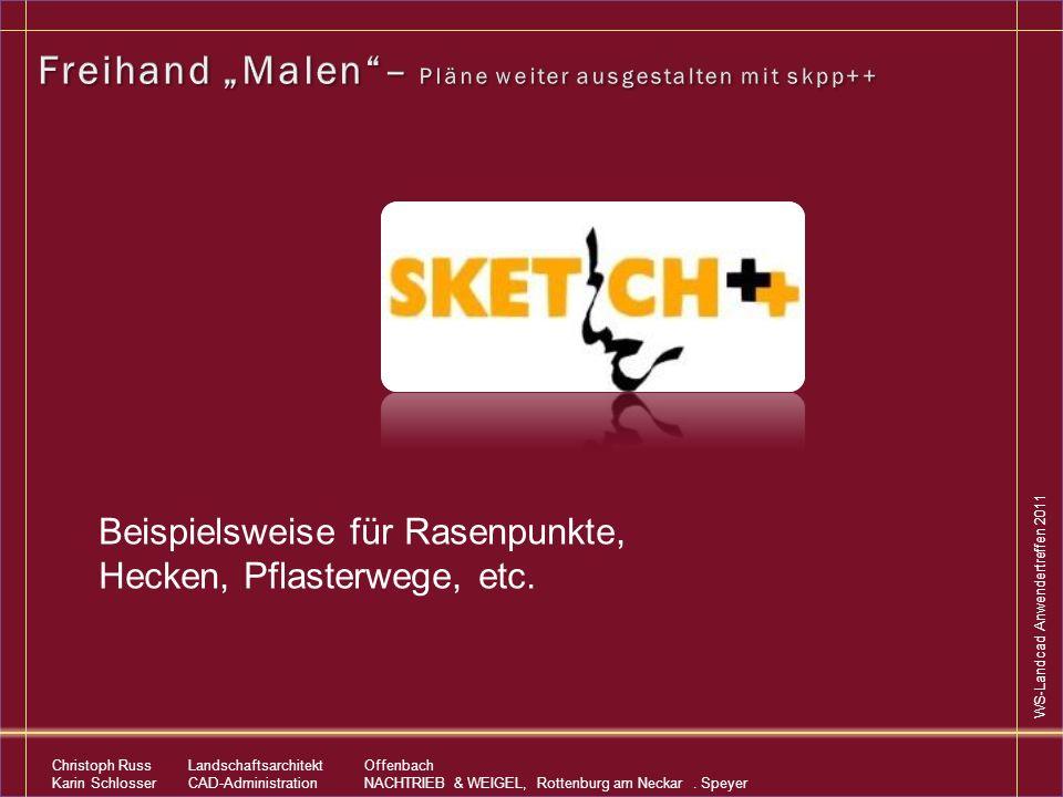 """Freihand """"Malen – Pläne weiter ausgestalten mit skpp++"""