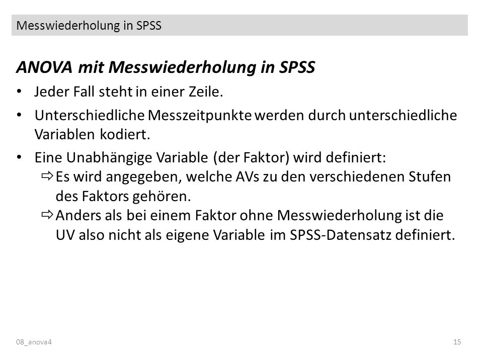 Messwiederholung in SPSS