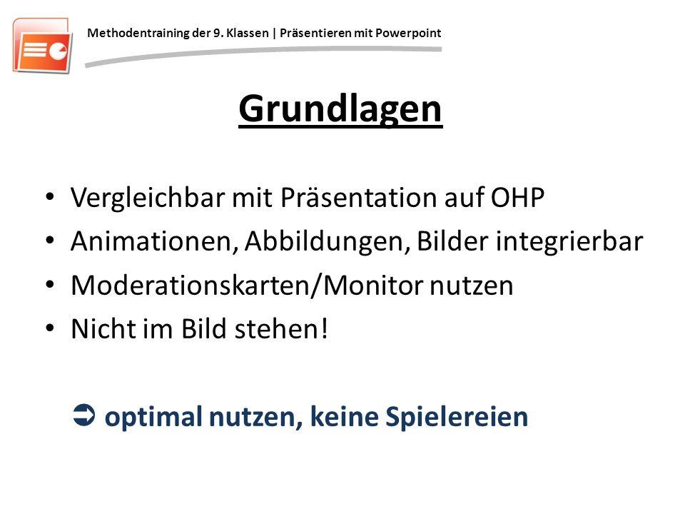Grundlagen Vergleichbar mit Präsentation auf OHP