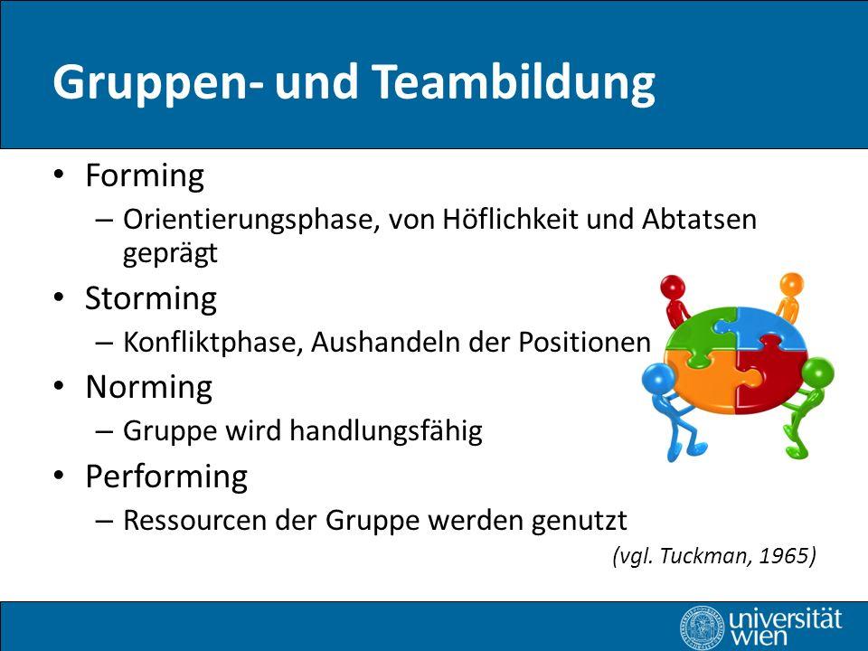 Gruppen- und Teambildung