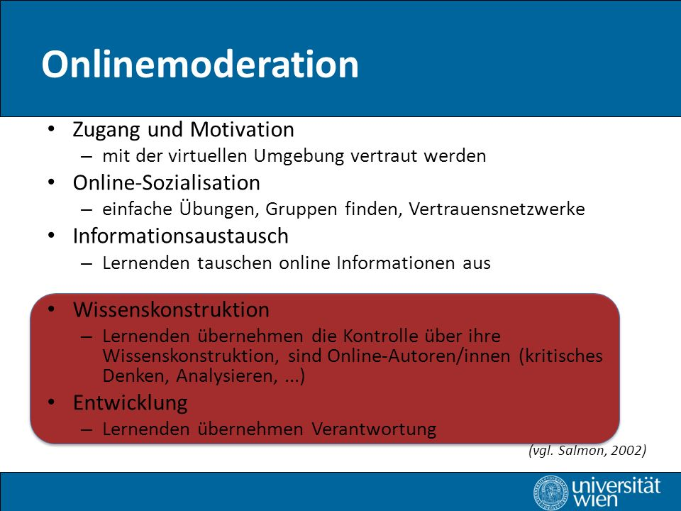 Onlinemoderation Zugang und Motivation Online-Sozialisation