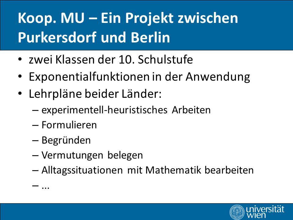 Koop. MU – Ein Projekt zwischen Purkersdorf und Berlin