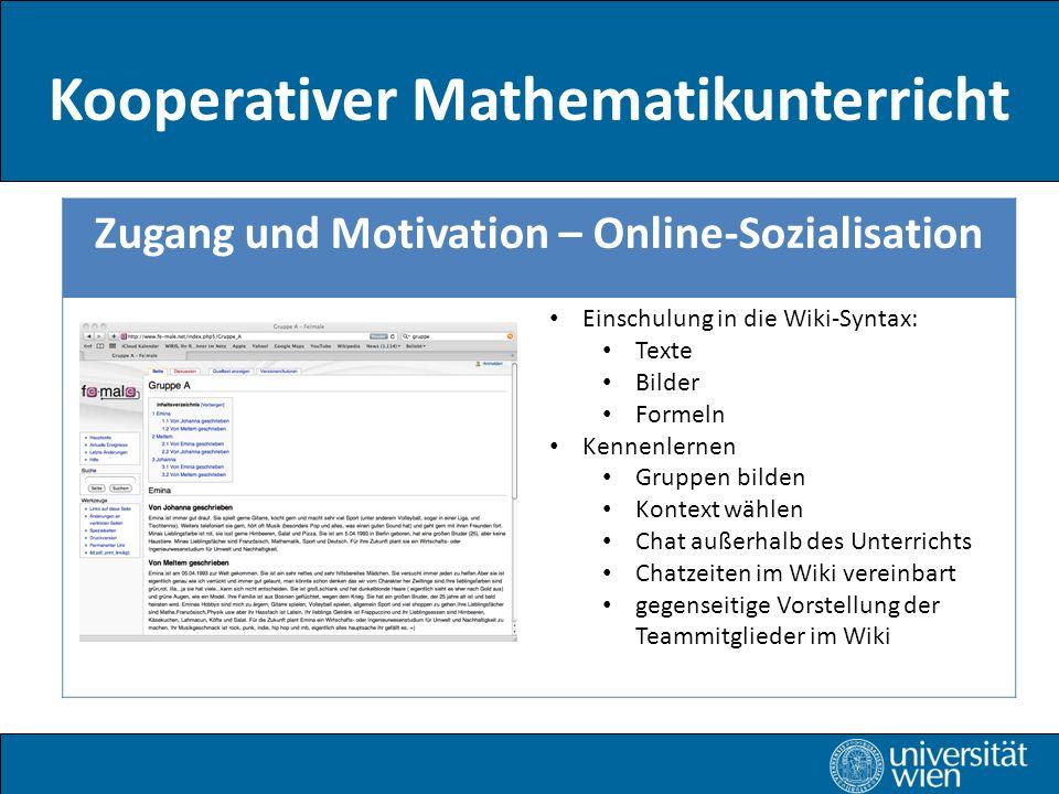 Kooperativer Mathematikunterricht