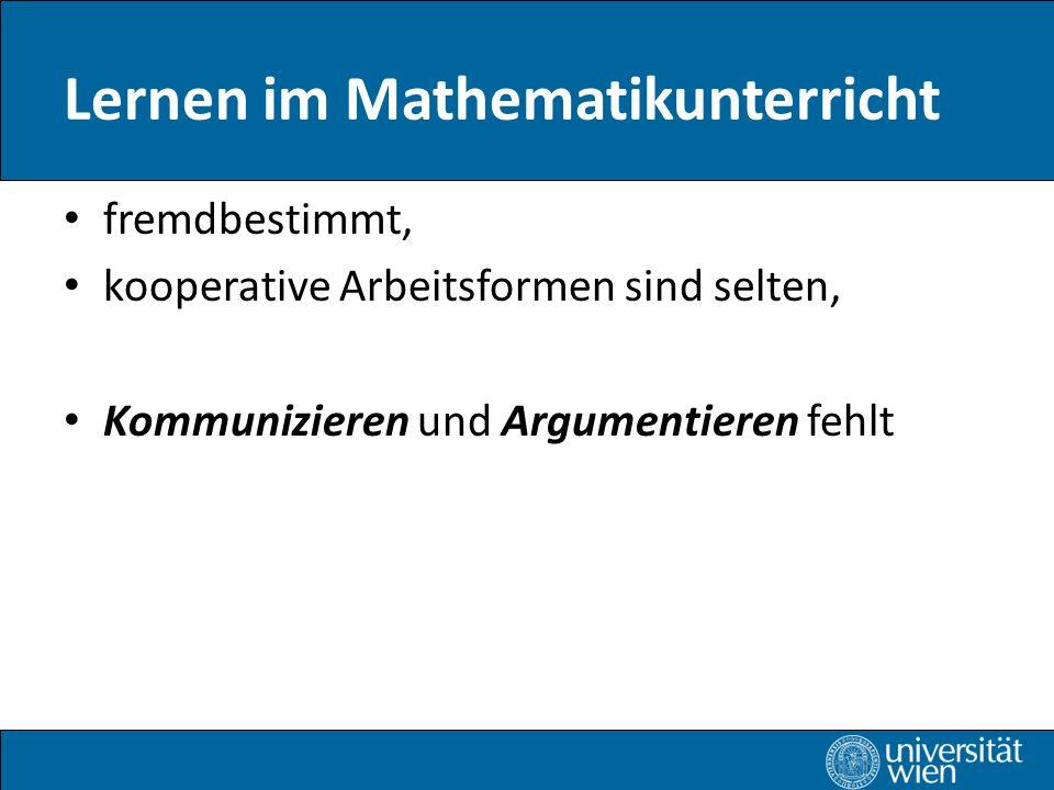 Lernen im Mathematikunterricht