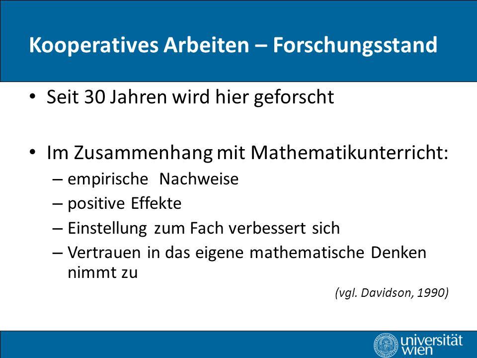 Kooperatives Arbeiten – Forschungsstand