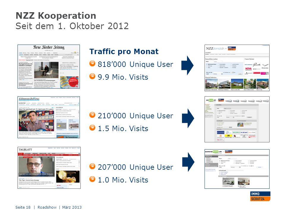 NZZ Kooperation Seit dem 1. Oktober 2012