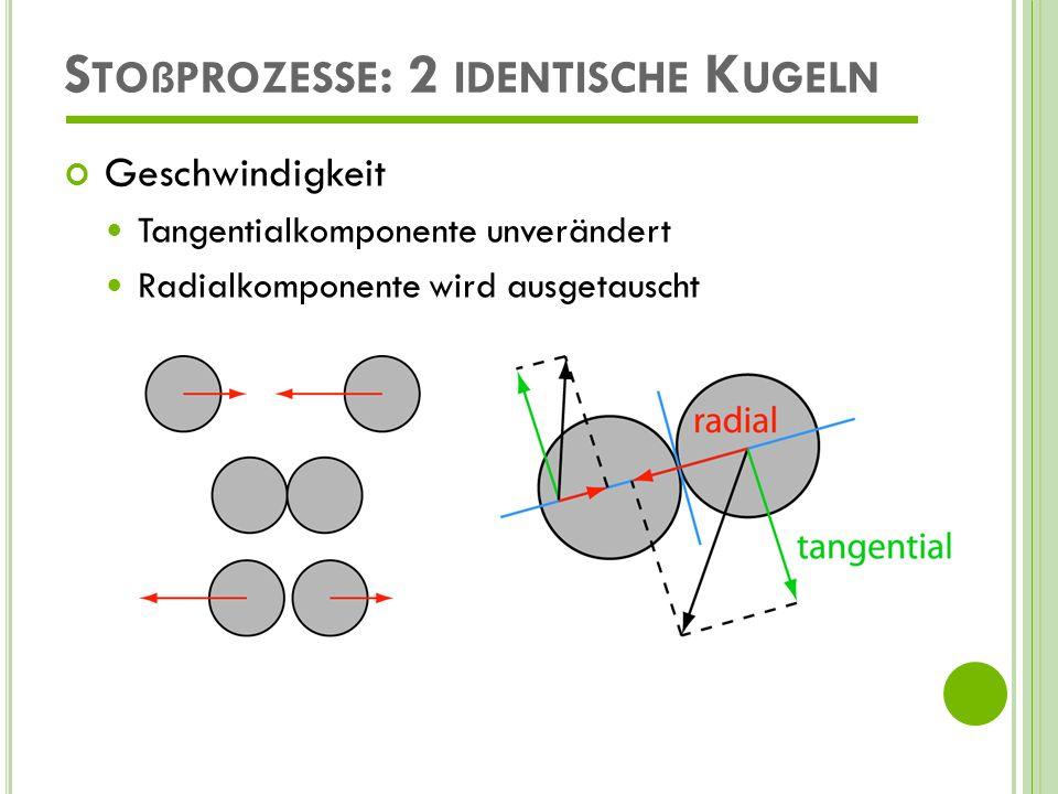 Stoßprozesse: 2 identische Kugeln