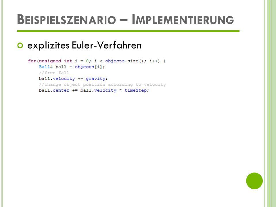 Beispielszenario – Implementierung