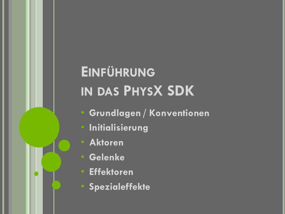 Einführung in das PhysX SDK