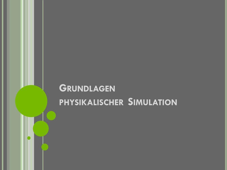Grundlagen physikalischer Simulation