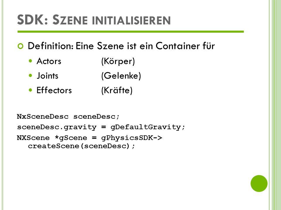SDK: Szene initialisieren