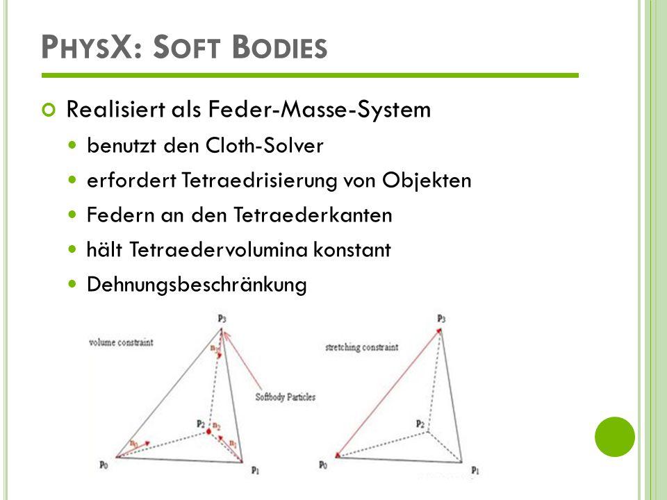PhysX: Soft Bodies Realisiert als Feder-Masse-System