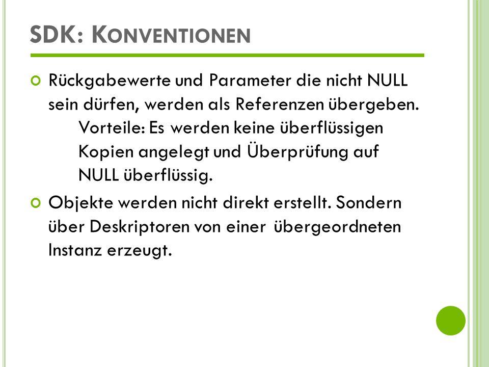 SDK: Konventionen