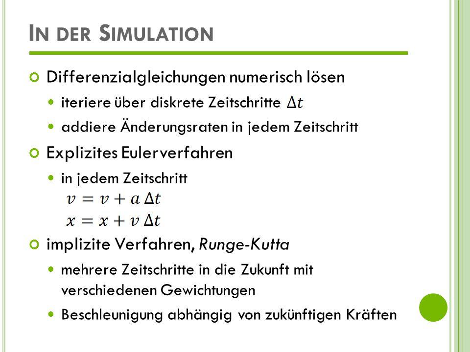 In der Simulation Differenzialgleichungen numerisch lösen