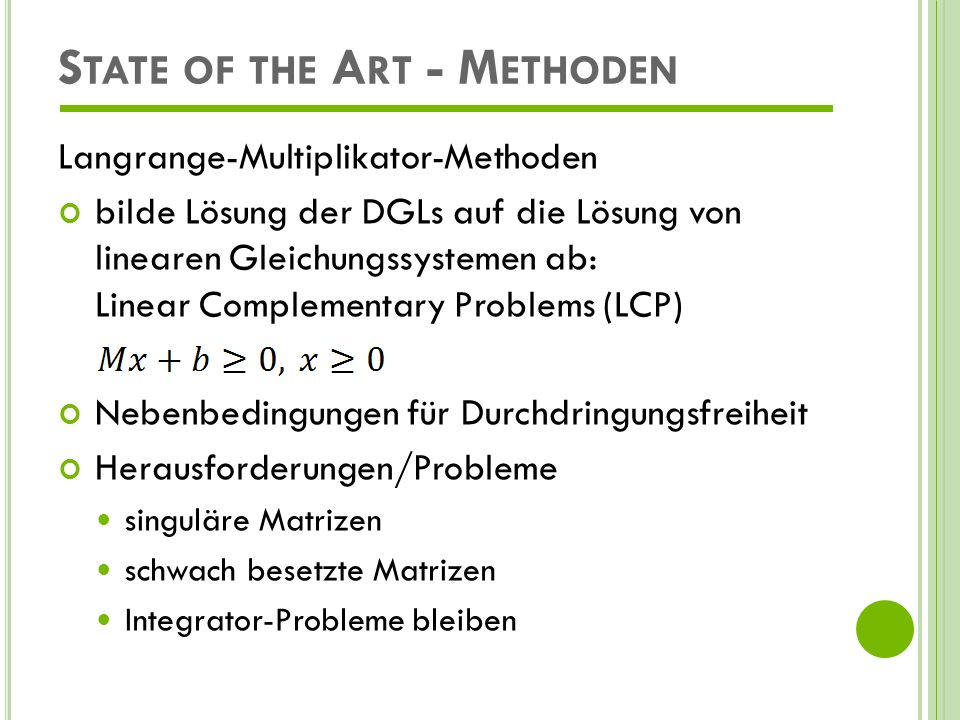 State of the Art - Methoden