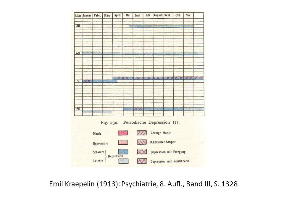 Emil Kraepelin (1913): Psychiatrie, 8. Aufl., Band III, S. 1328