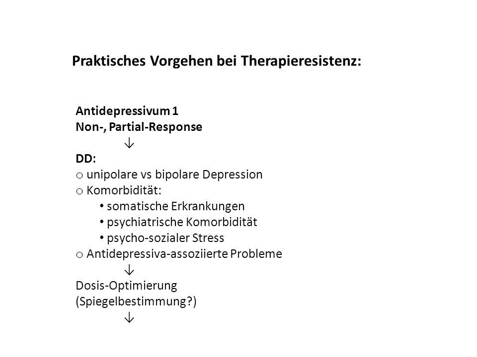 Praktisches Vorgehen bei Therapieresistenz: