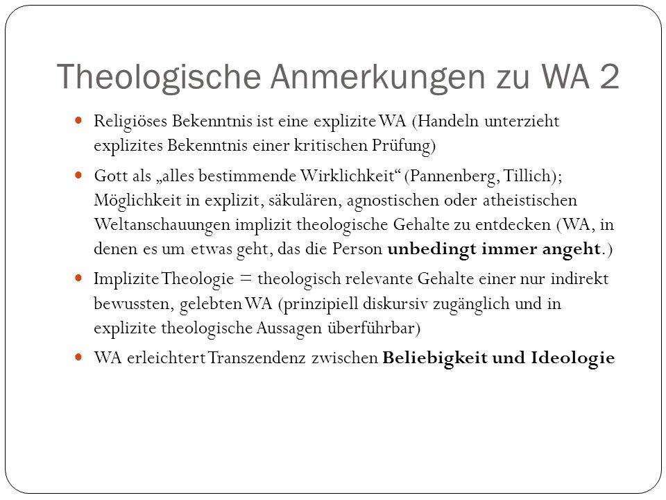 Theologische Anmerkungen zu WA 2