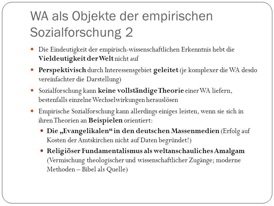 WA als Objekte der empirischen Sozialforschung 2