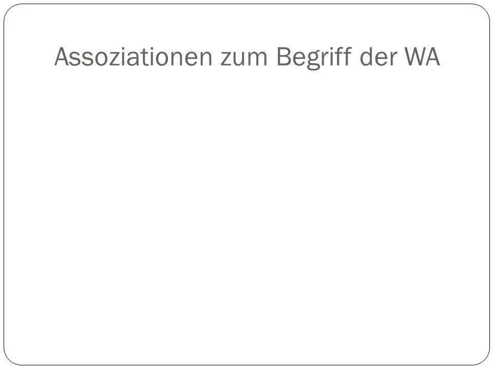 Assoziationen zum Begriff der WA