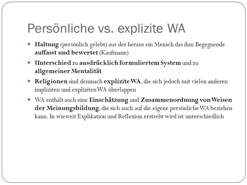 Persönliche vs. explizite WA