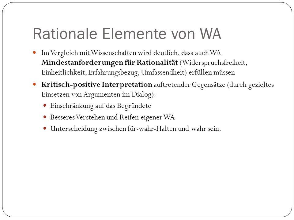Rationale Elemente von WA
