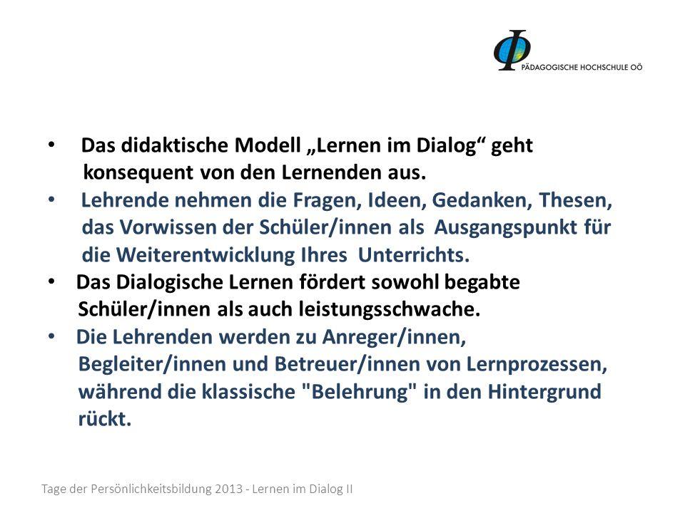 """Das didaktische Modell """"Lernen im Dialog geht"""