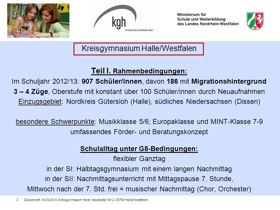 Kreisgymnasium Halle/Westfalen Teil I