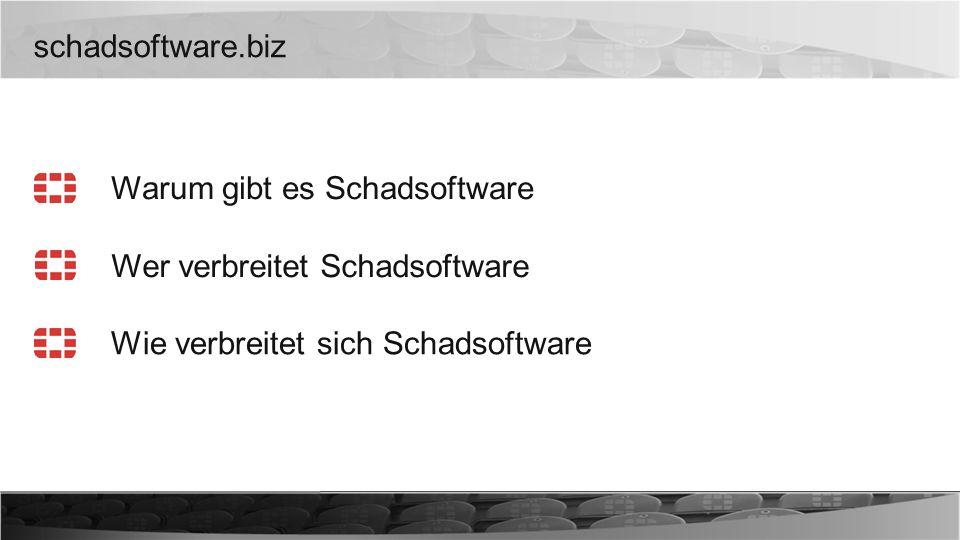 schadsoftware.biz Warum gibt es Schadsoftware. Wer verbreitet Schadsoftware.