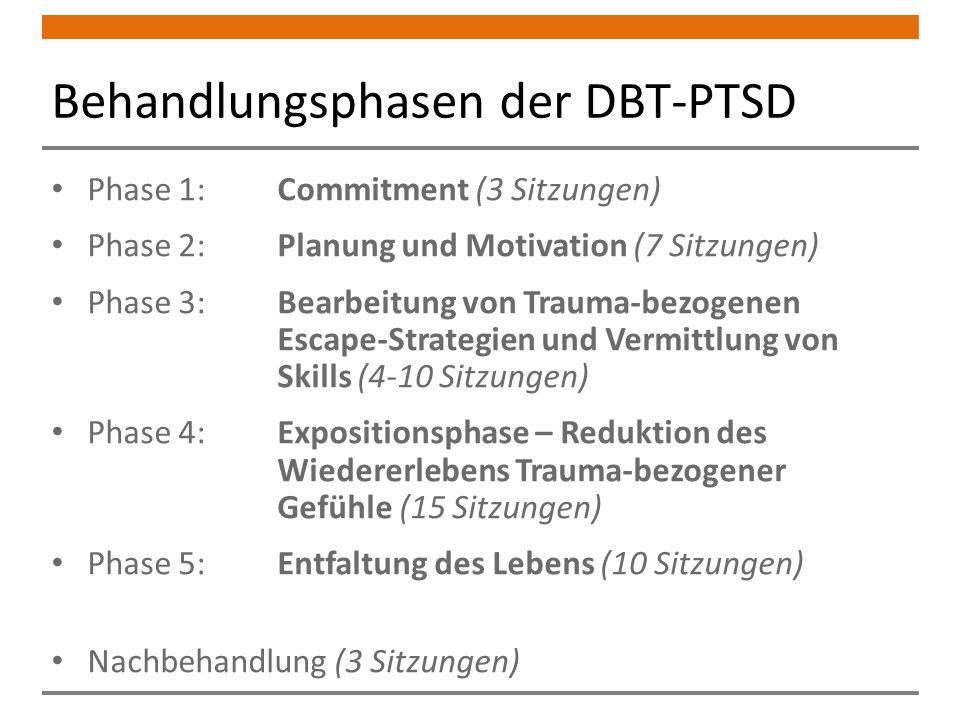 Behandlungsphasen der DBT-PTSD