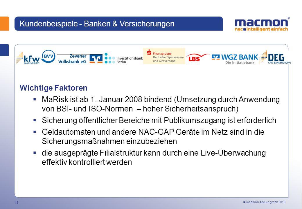 Kundenbeispiele - Banken & Versicherungen