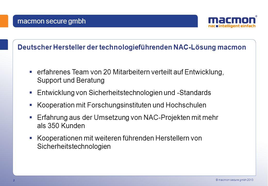 macmon secure gmbh Deutscher Hersteller der technologieführenden NAC-Lösung macmon.
