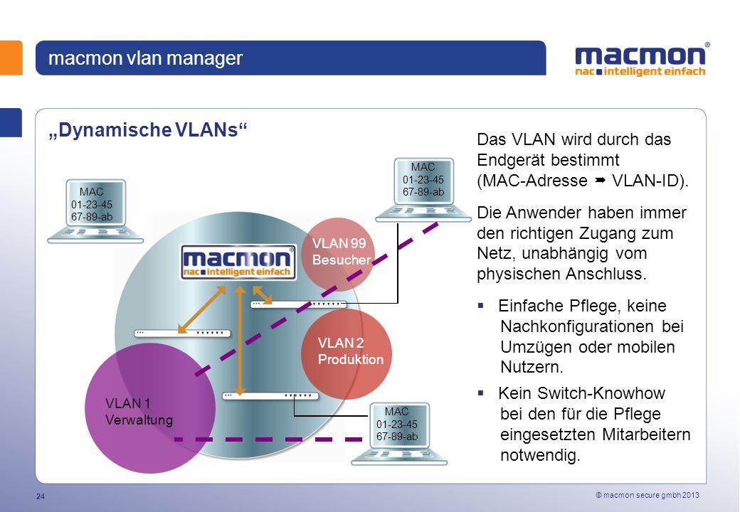 """macmon vlan manager """"Dynamische VLANs"""