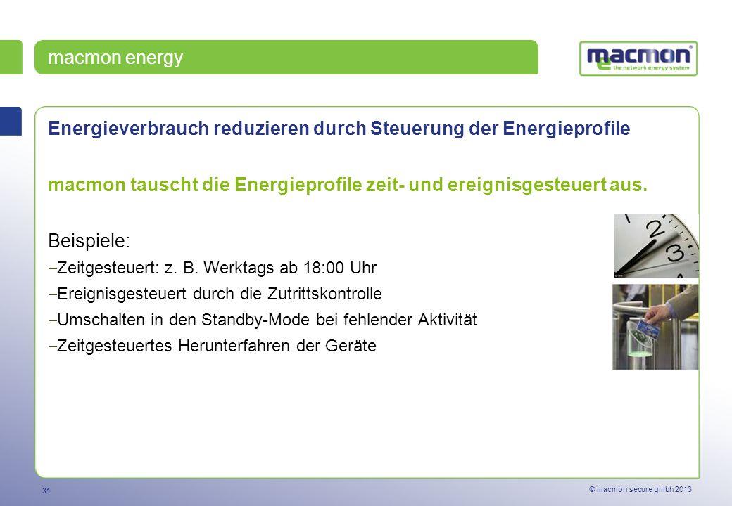 Energieverbrauch reduzieren durch Steuerung der Energieprofile