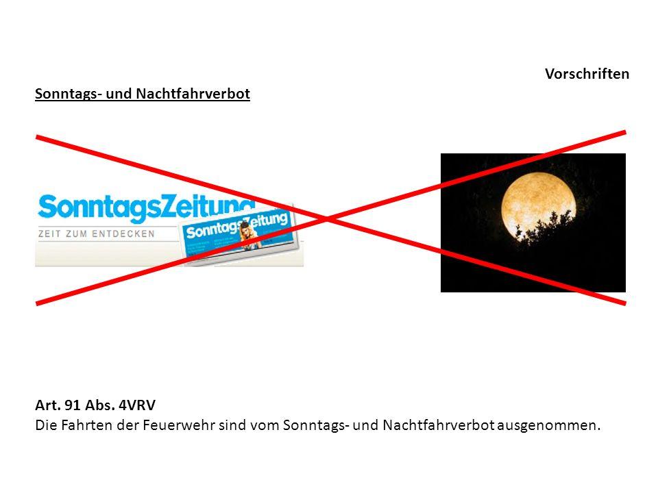 Vorschriften Sonntags- und Nachtfahrverbot. Art.
