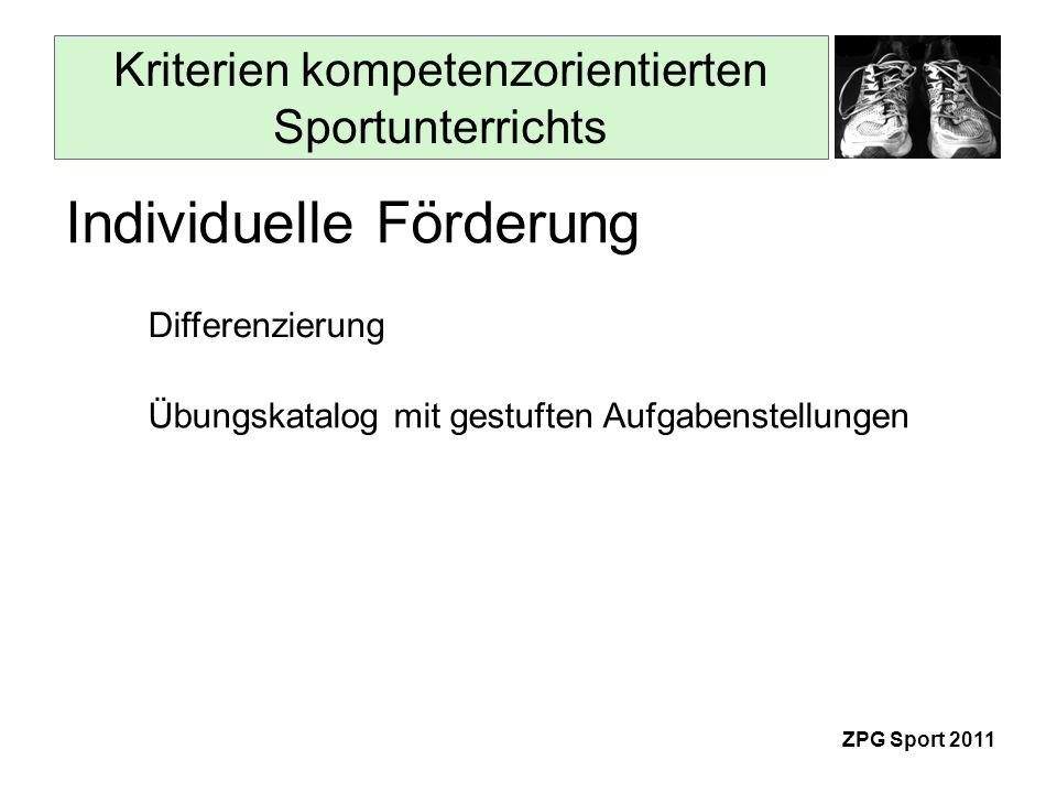 Kriterien kompetenzorientierten Sportunterrichts