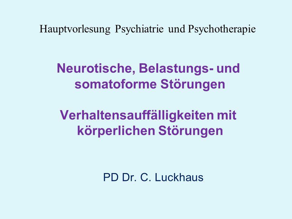 Hauptvorlesung Psychiatrie und Psychotherapie