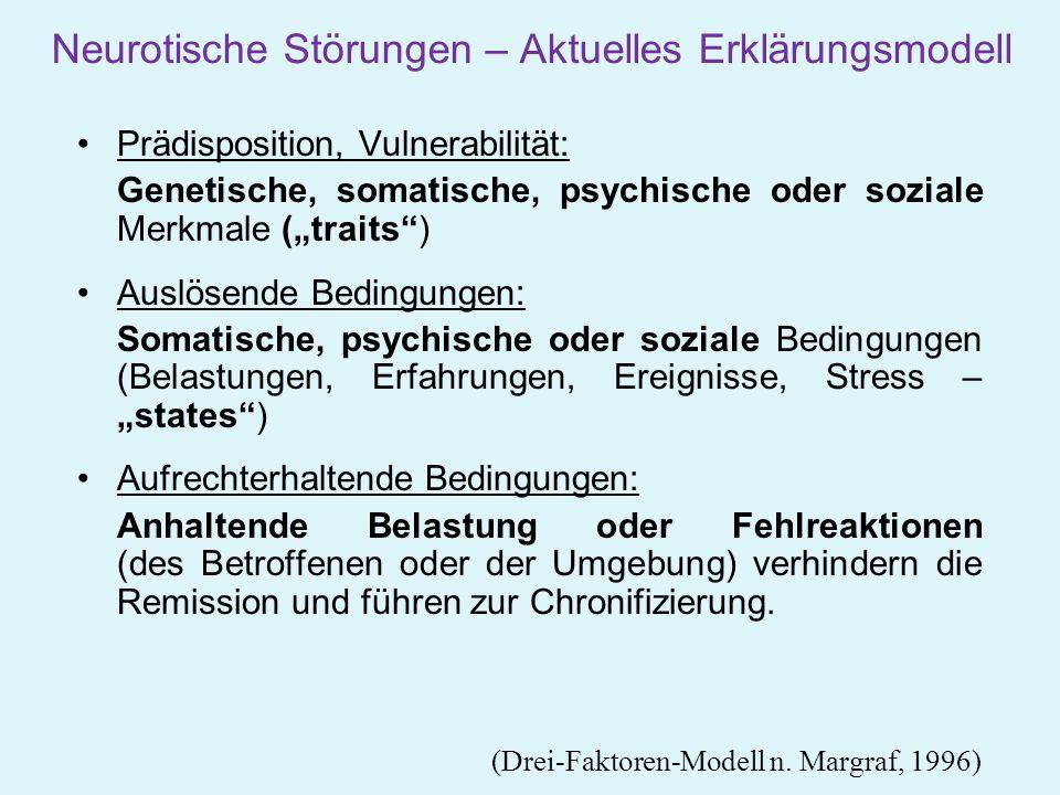Neurotische Störungen – Aktuelles Erklärungsmodell