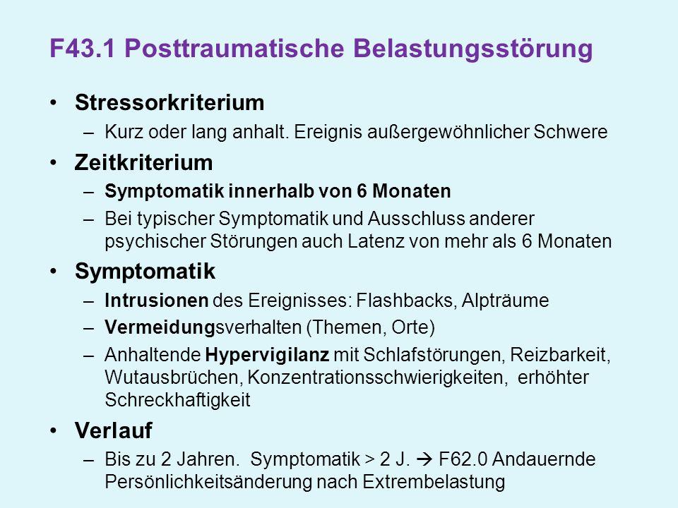 F43.1 Posttraumatische Belastungsstörung