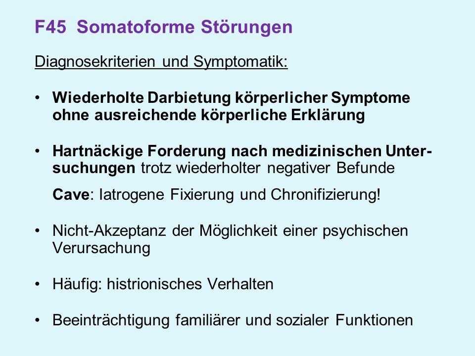 F45 Somatoforme Störungen